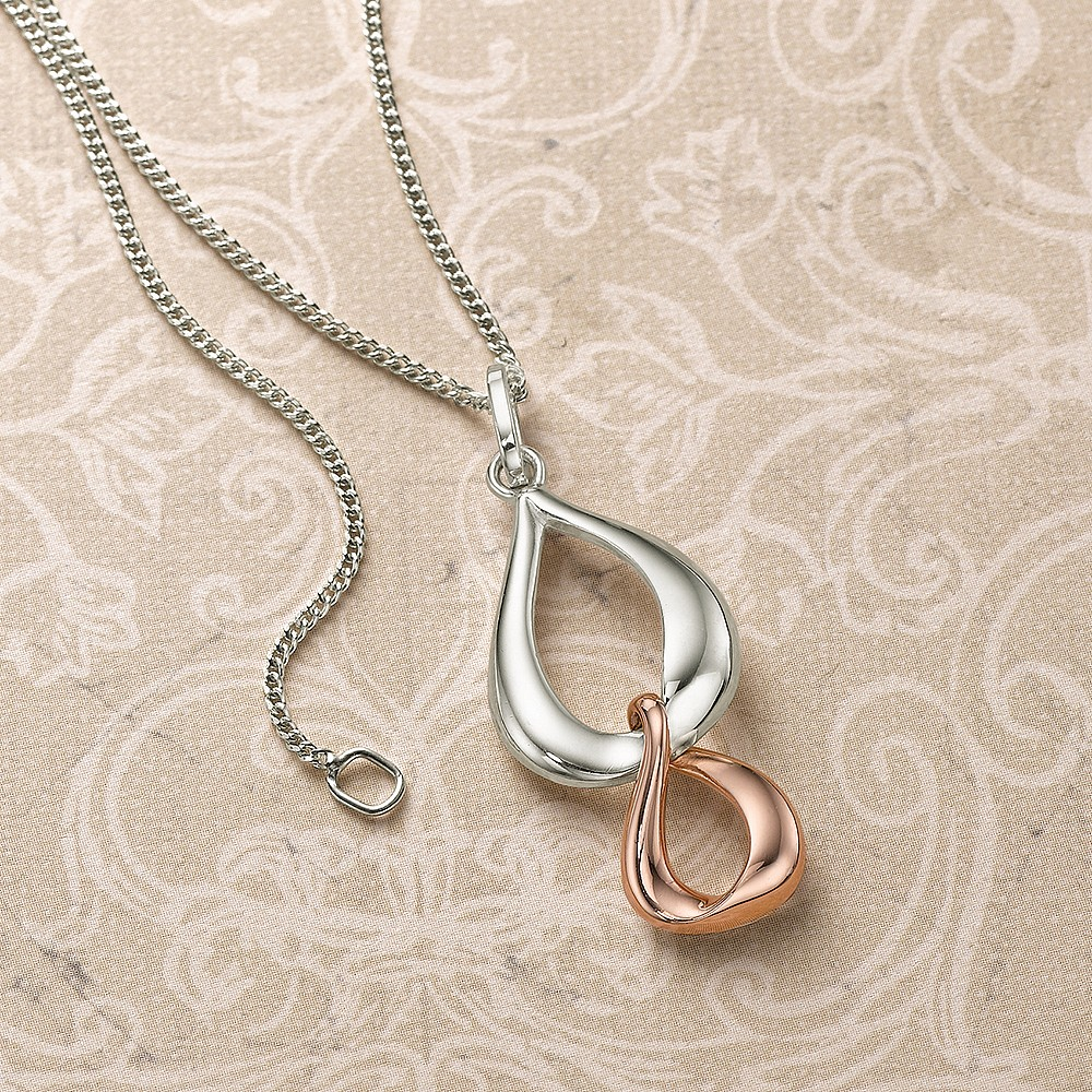 Infinite Links Silver Pendant