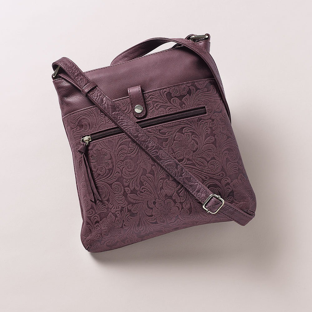 Blackberry Bliss Leather Bag