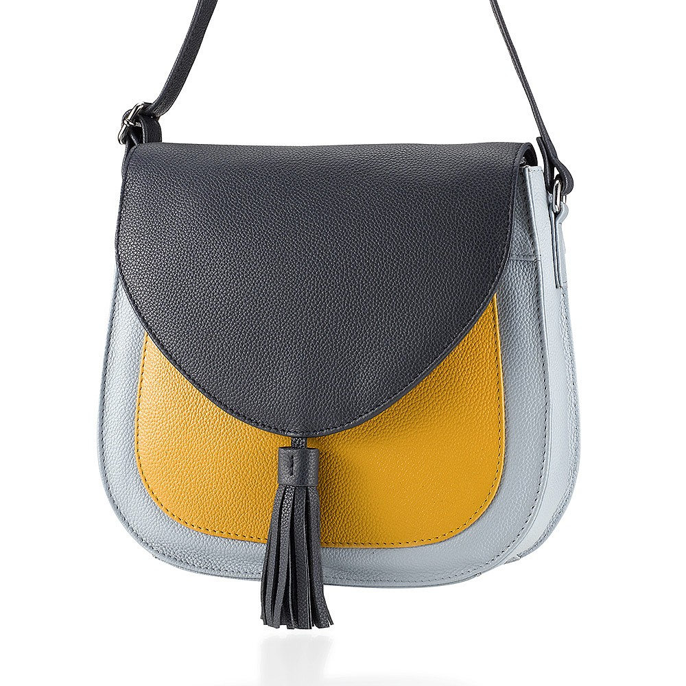 Edge of Glory Leather Saddle Bag
