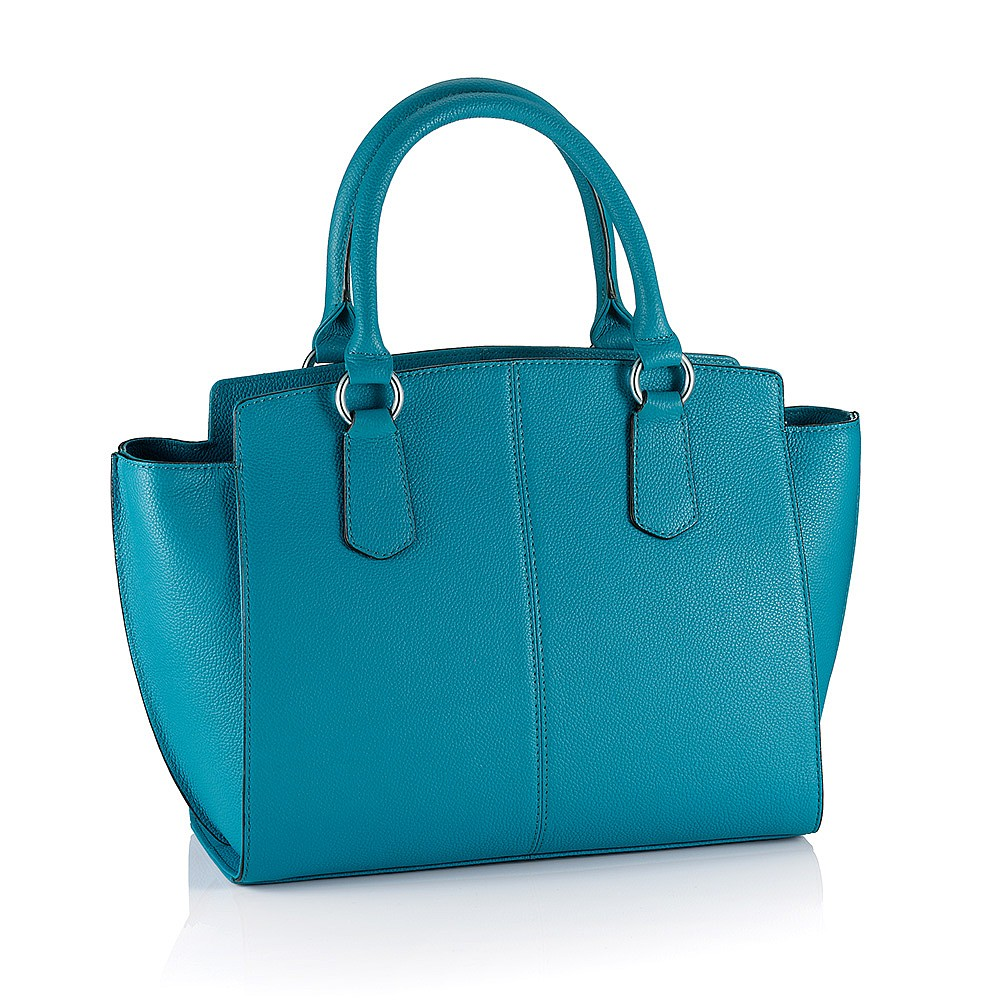 Cerulean Skies Leather Bag
