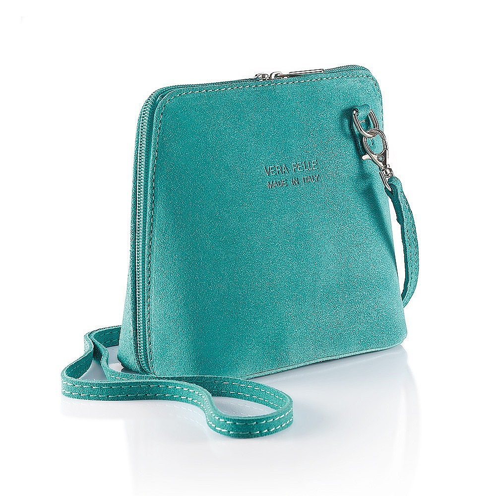 Ocean Blue Suede Bag