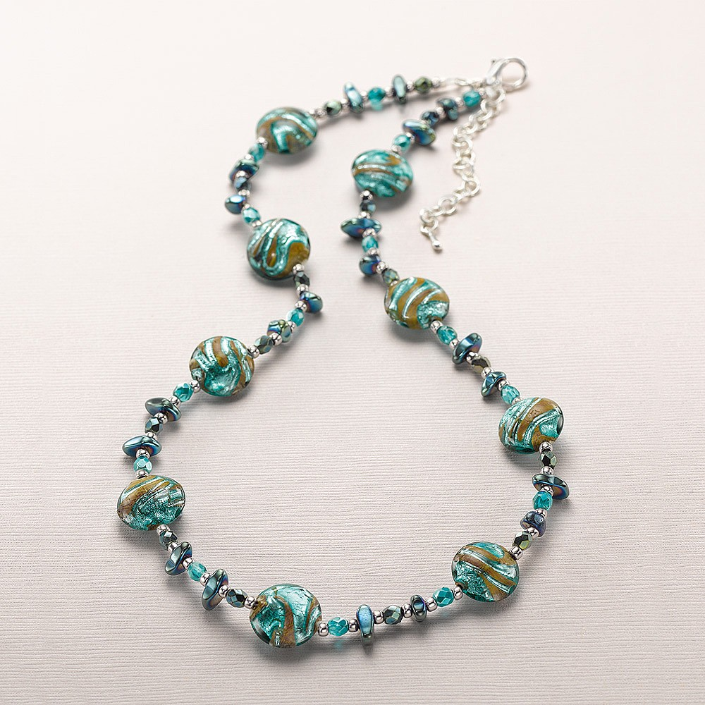 Shoreline Serenity Murano Necklace