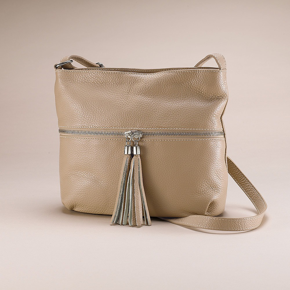 Tranquil Taupe Leather Bag