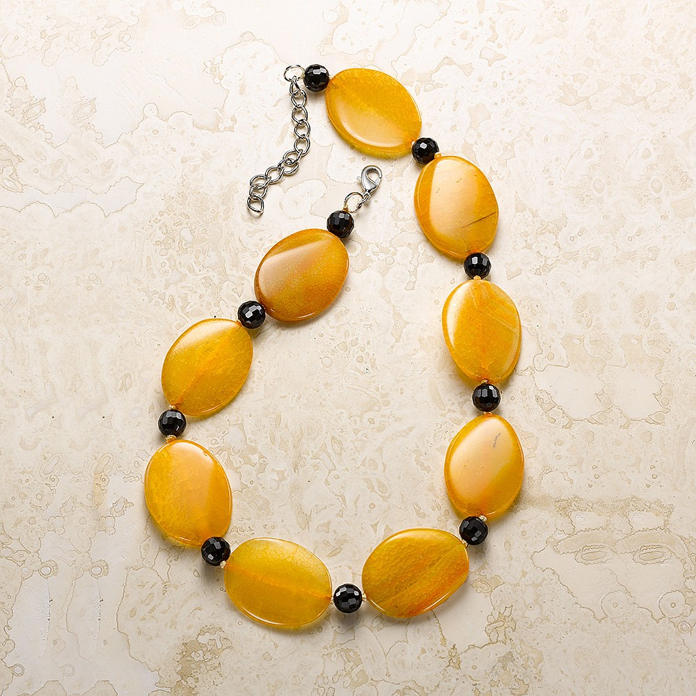 Sunny Side Up Agate Necklace