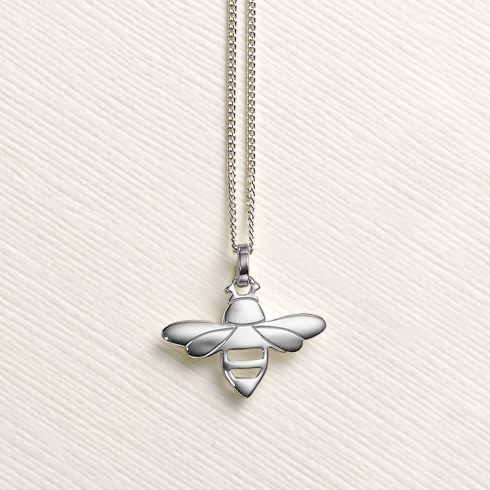 Bee With You Silver Pendant