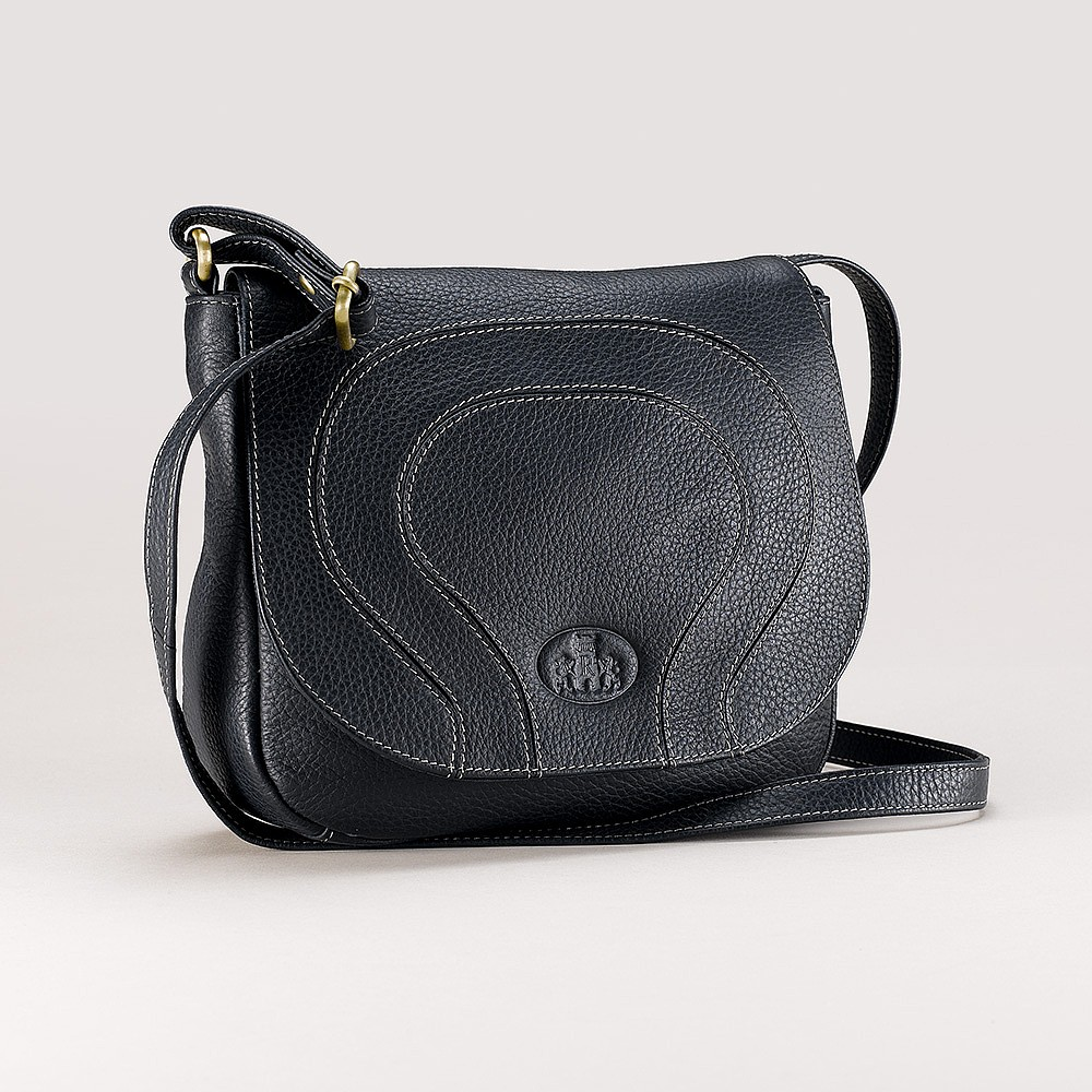 Rippling Tides Leather Saddle Bag