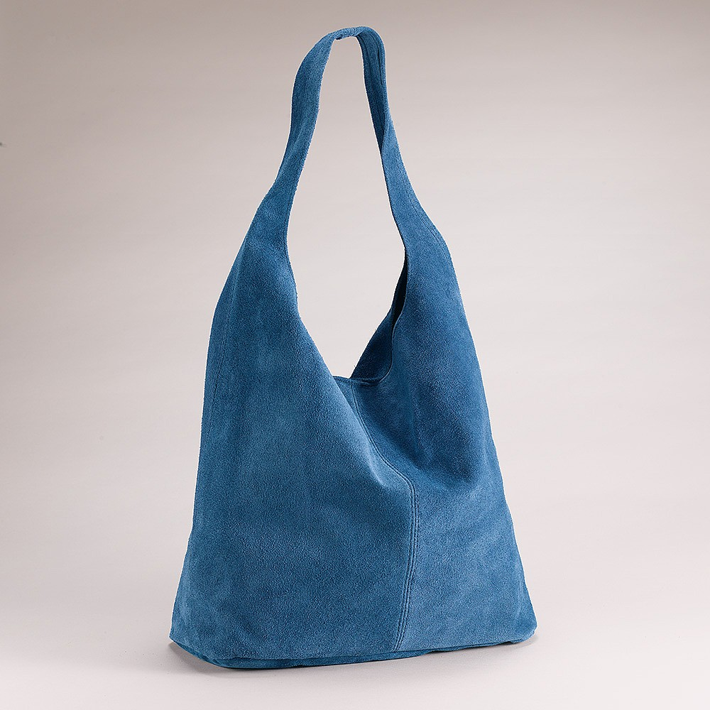 Out of the Blue Suede Bag