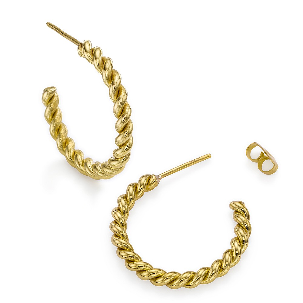 Life's Twists and Turns Hoop Earrings