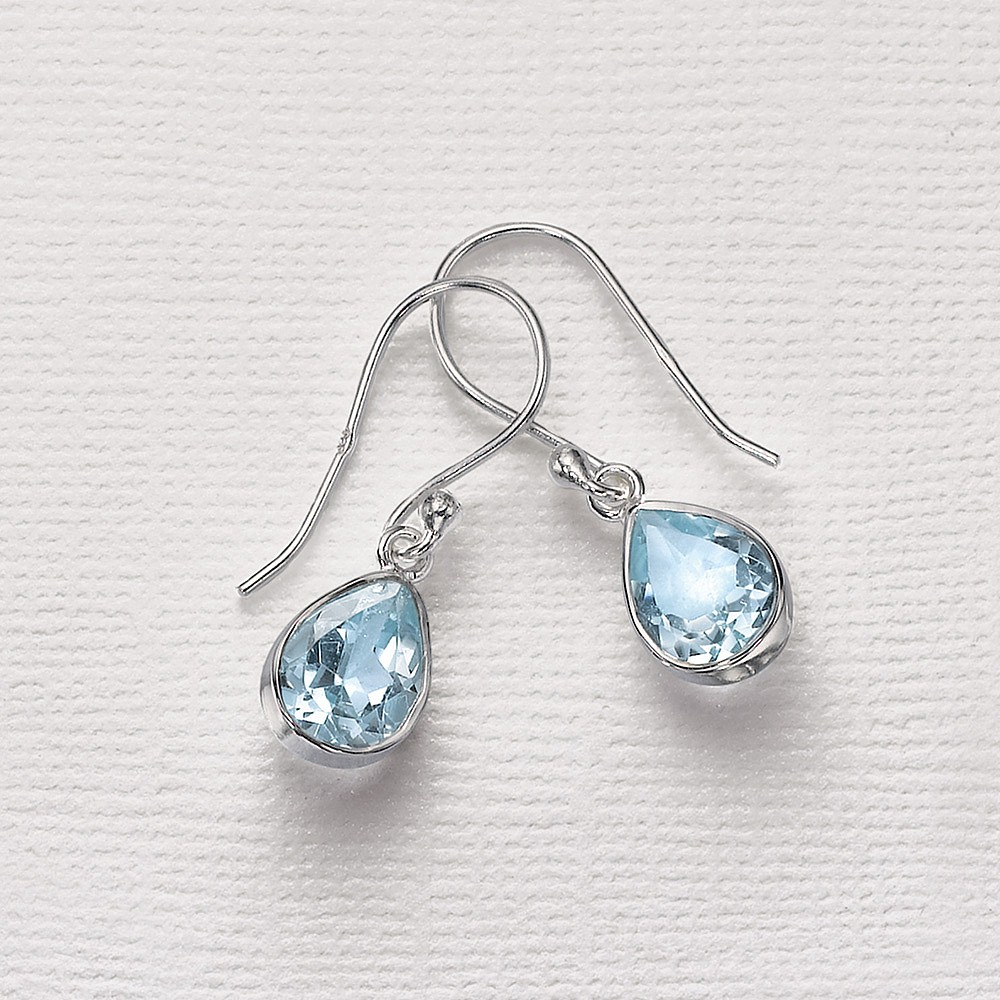 Stand by Me Blue Topaz Earrings