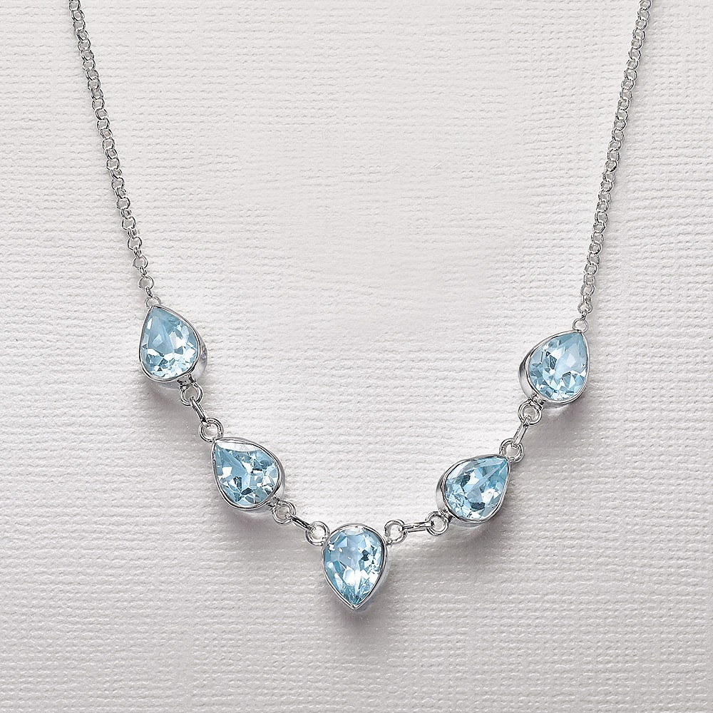 Stand By Me Blue Topaz Necklace