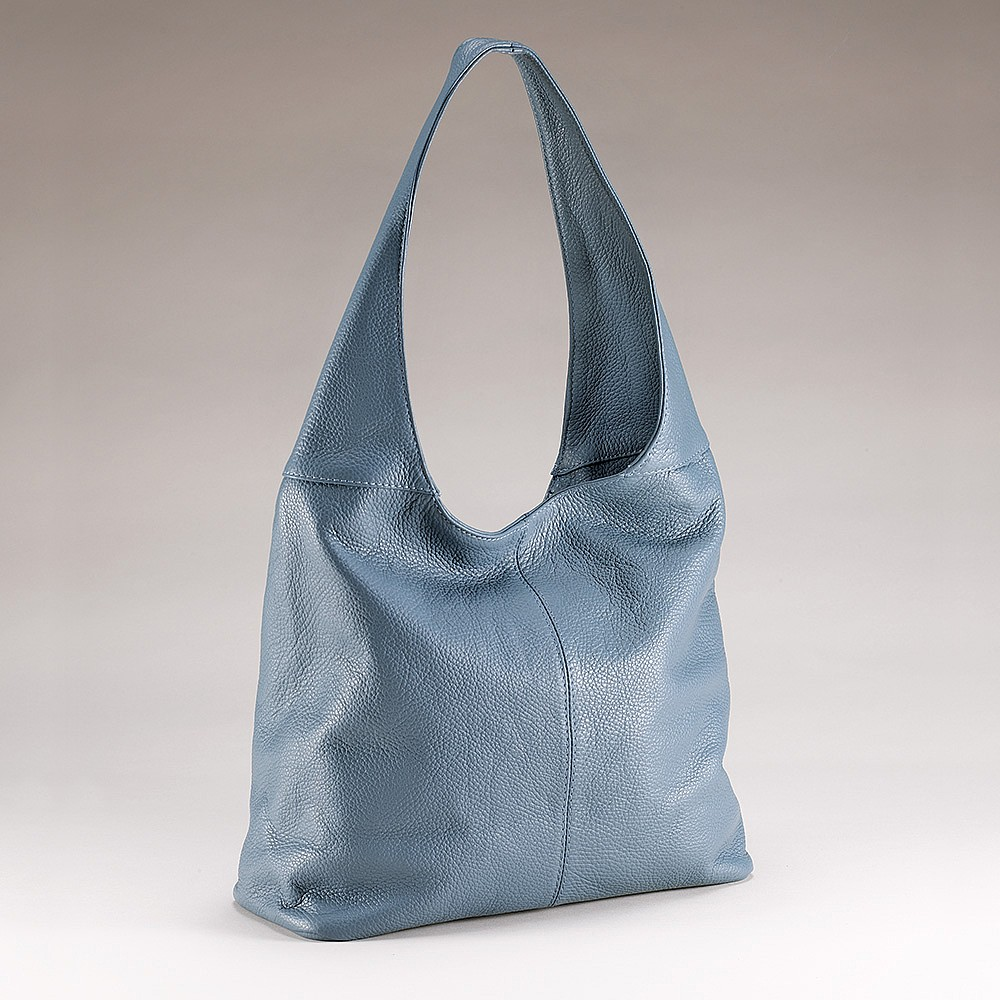 Call It The Blues Leather Slouch Bag
