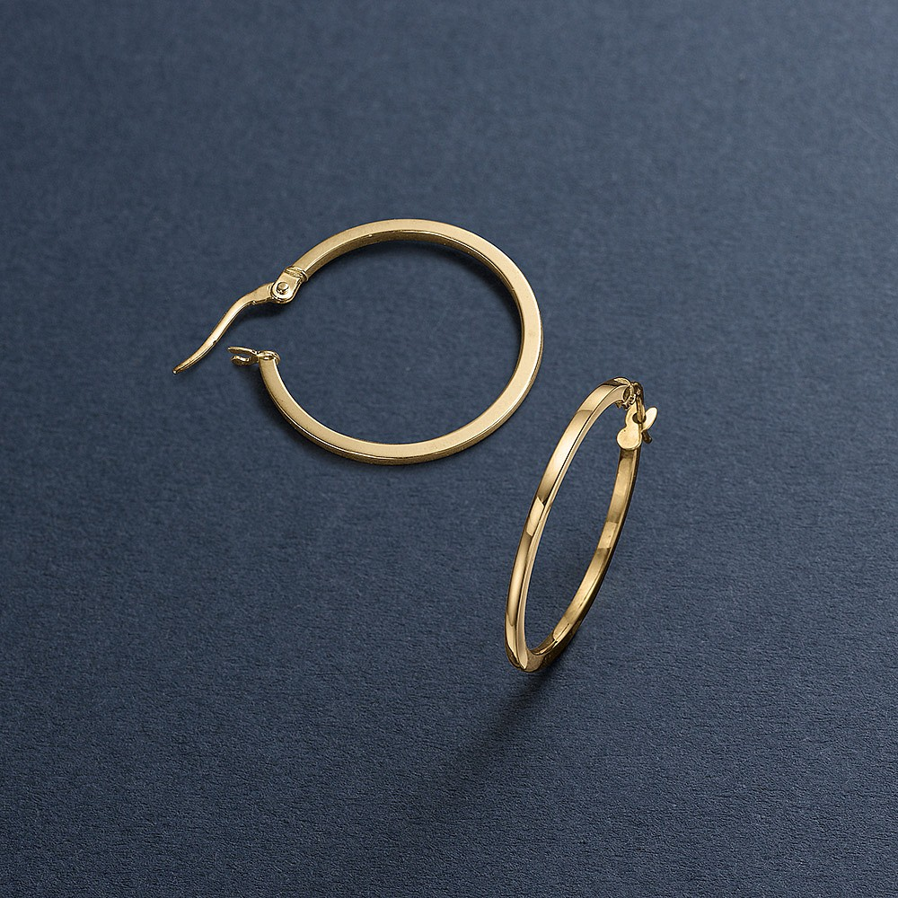 Elementary Echo Hoop Earrings