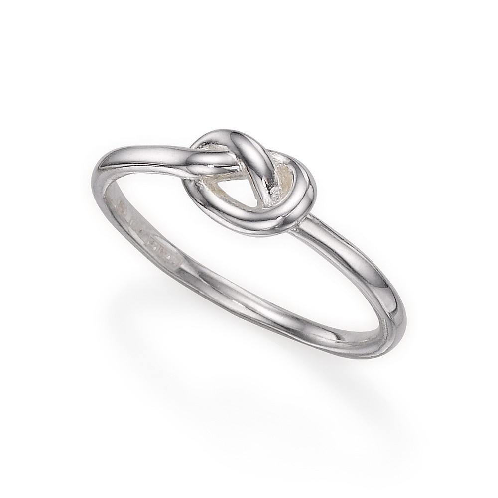 Forget Me Knot Silver Ring