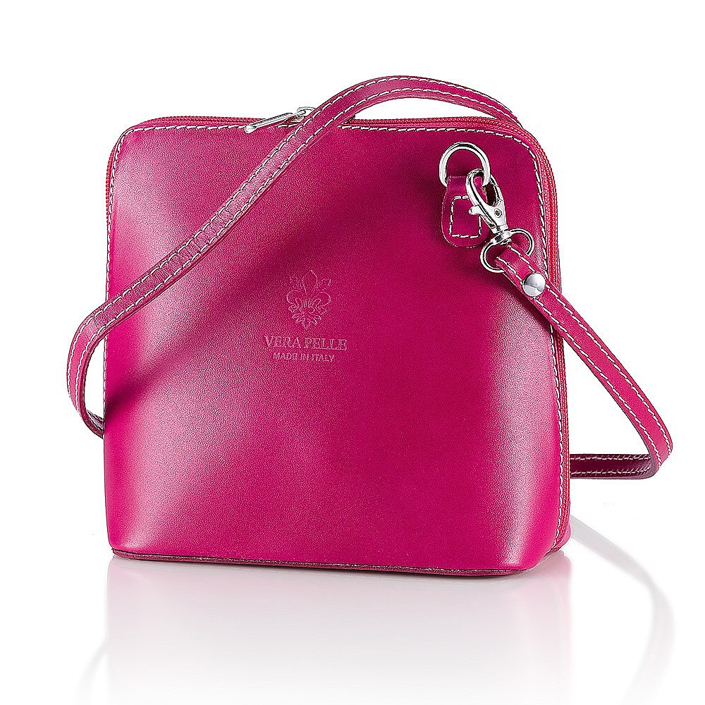 Fall for Fuchsia Leather Bag