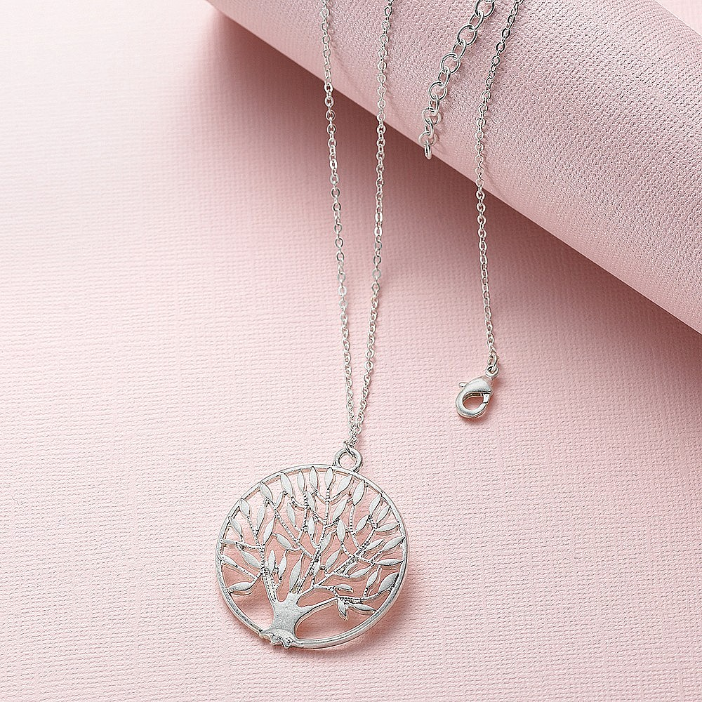 Silvered Orchard Pendant