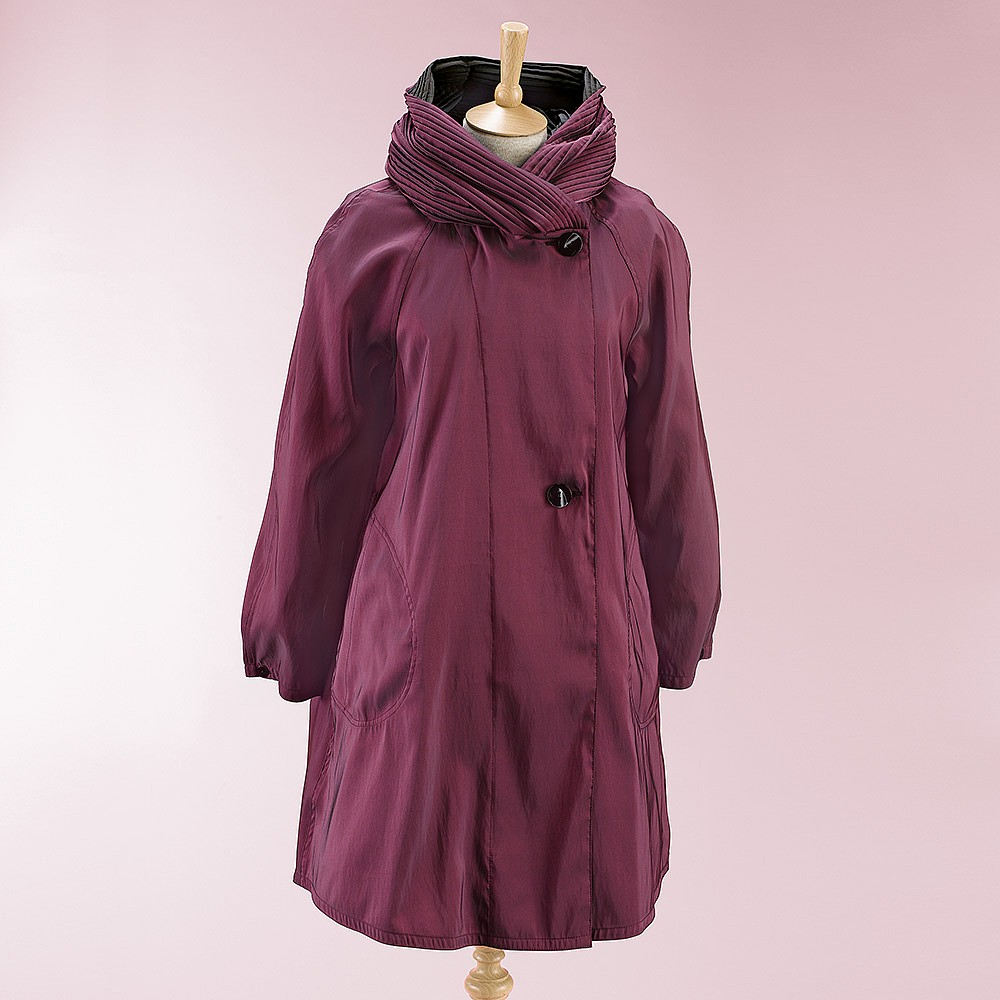 Plum Position Reversible Raincoat