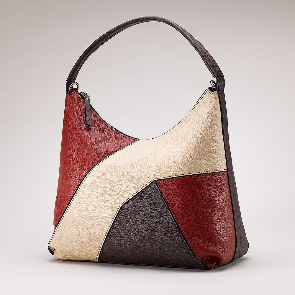Wine & Song Leather Shoulder Bag