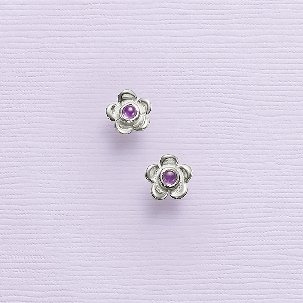 Pure Joy Amethyst Stud Earrings