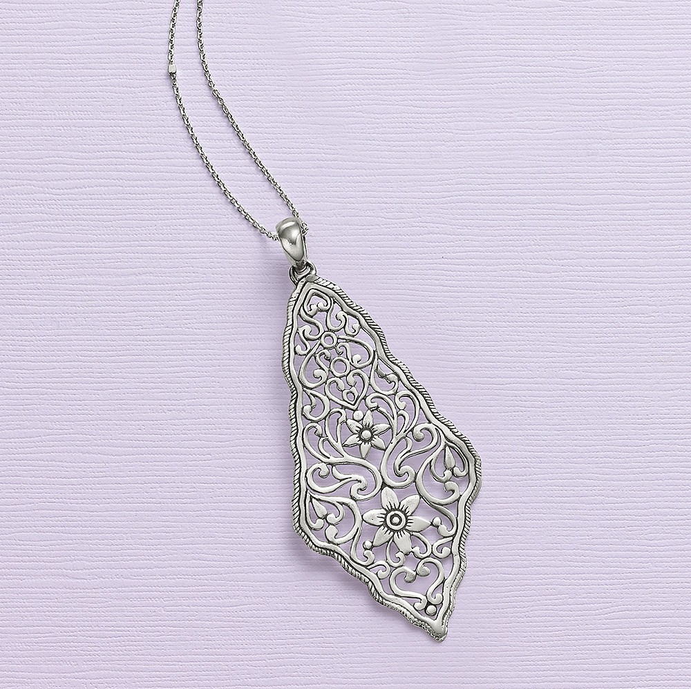 Tales of the Orient Silver Pendant