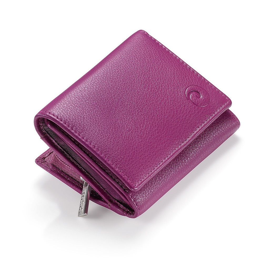 Berry Delight Compact Leather Purse