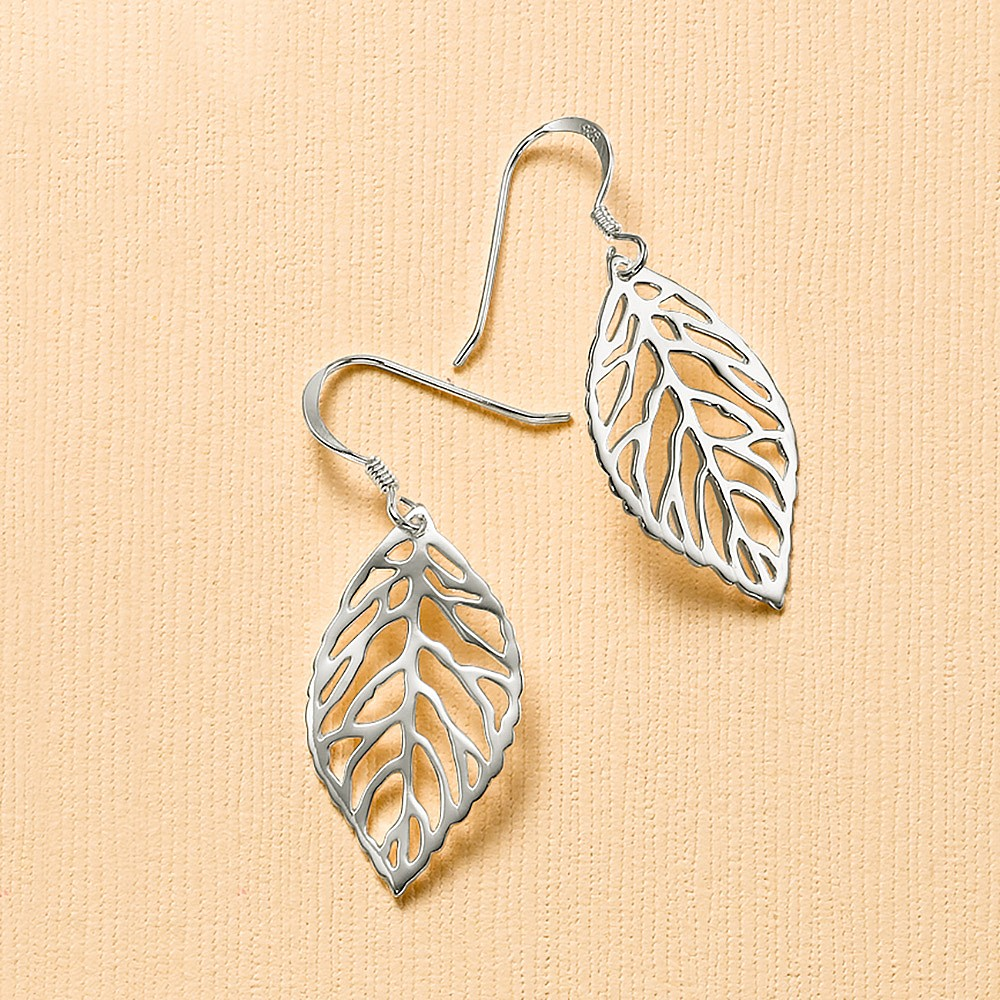 A New Leaf Silver Earrings