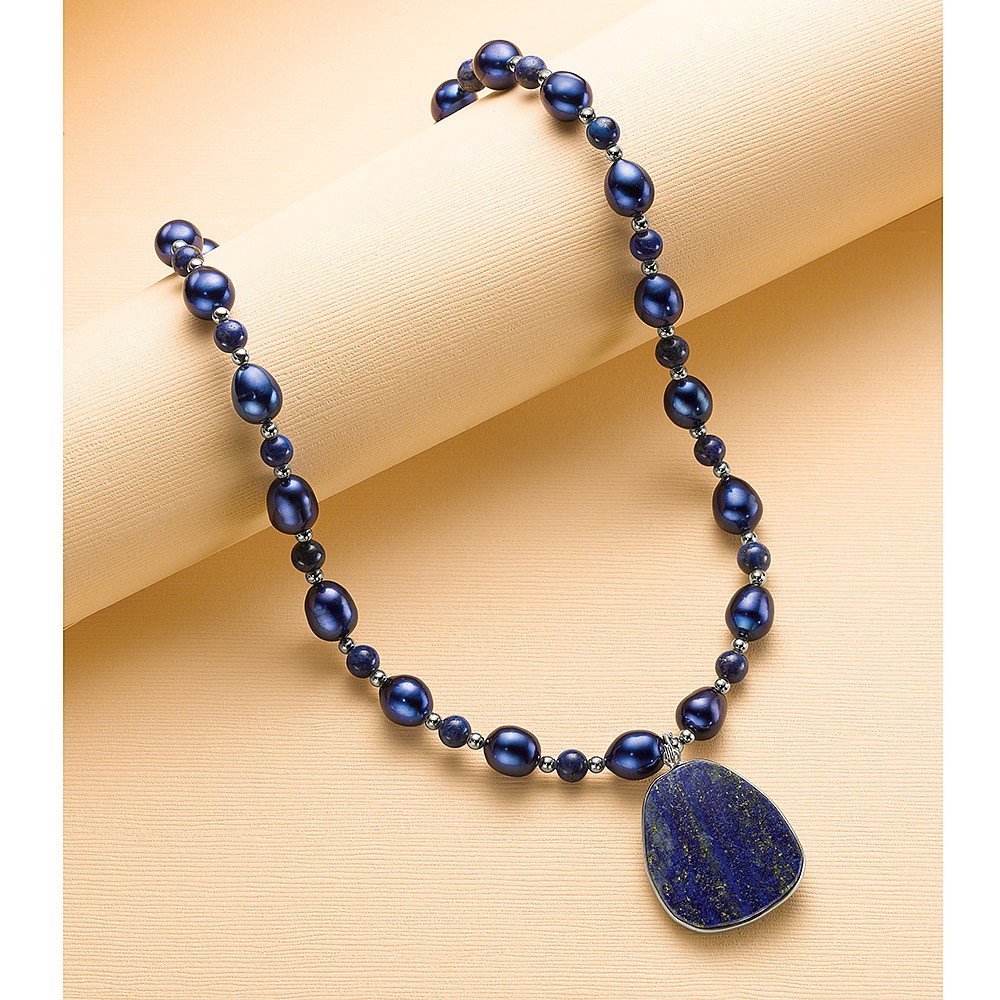 Wisdom on the Water Lapis Necklace