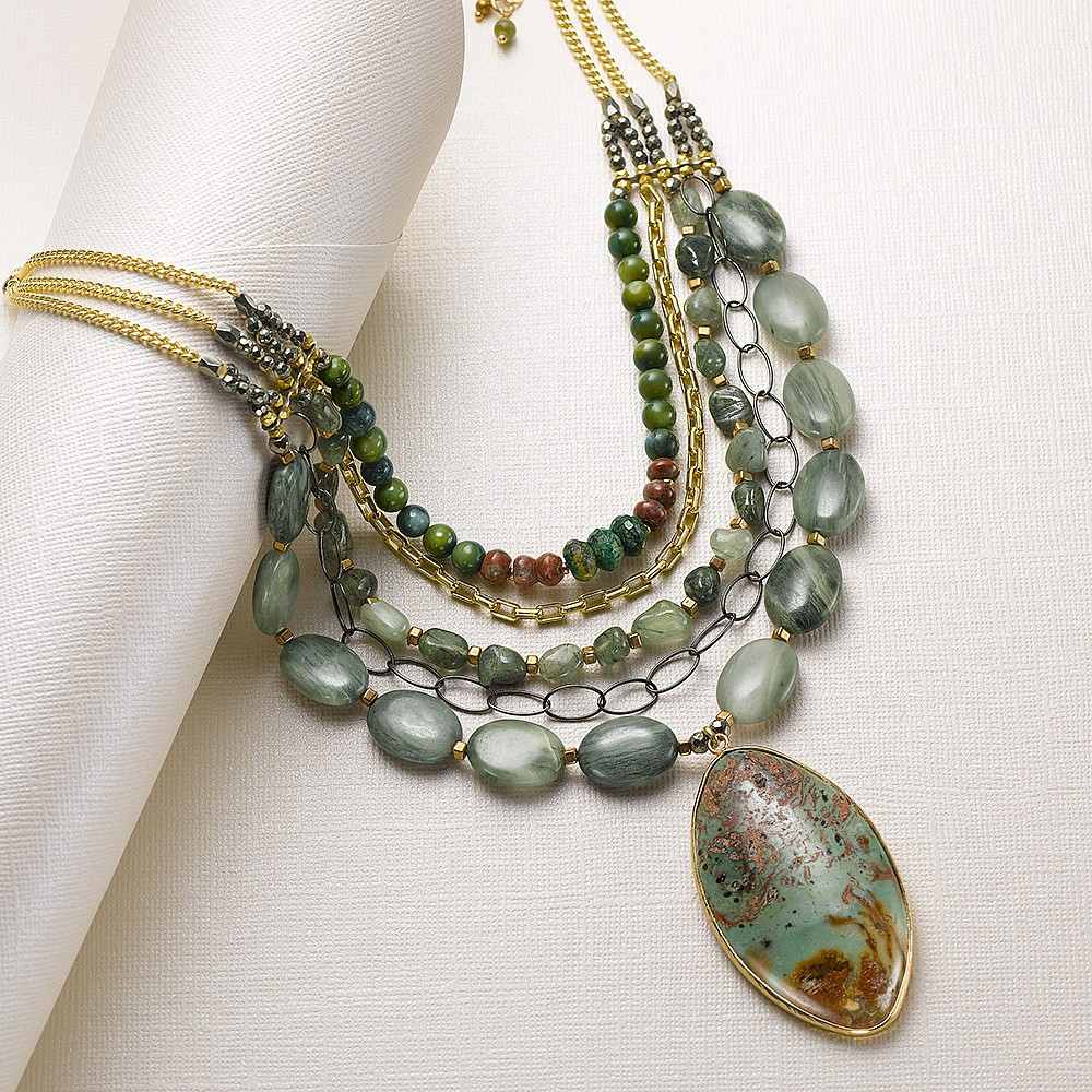 Night Garden Semi-Precious Necklace