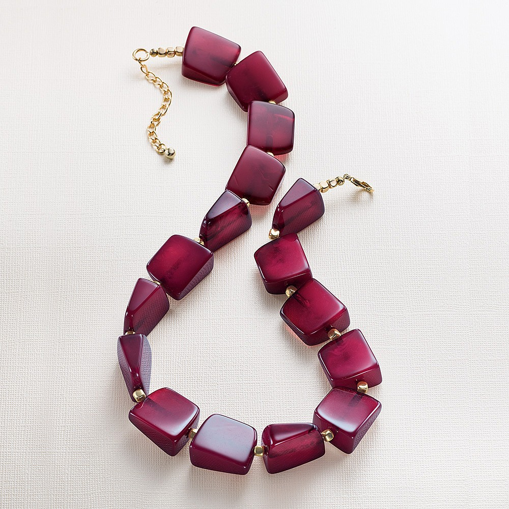 Raspberry Pink Modernista Necklace