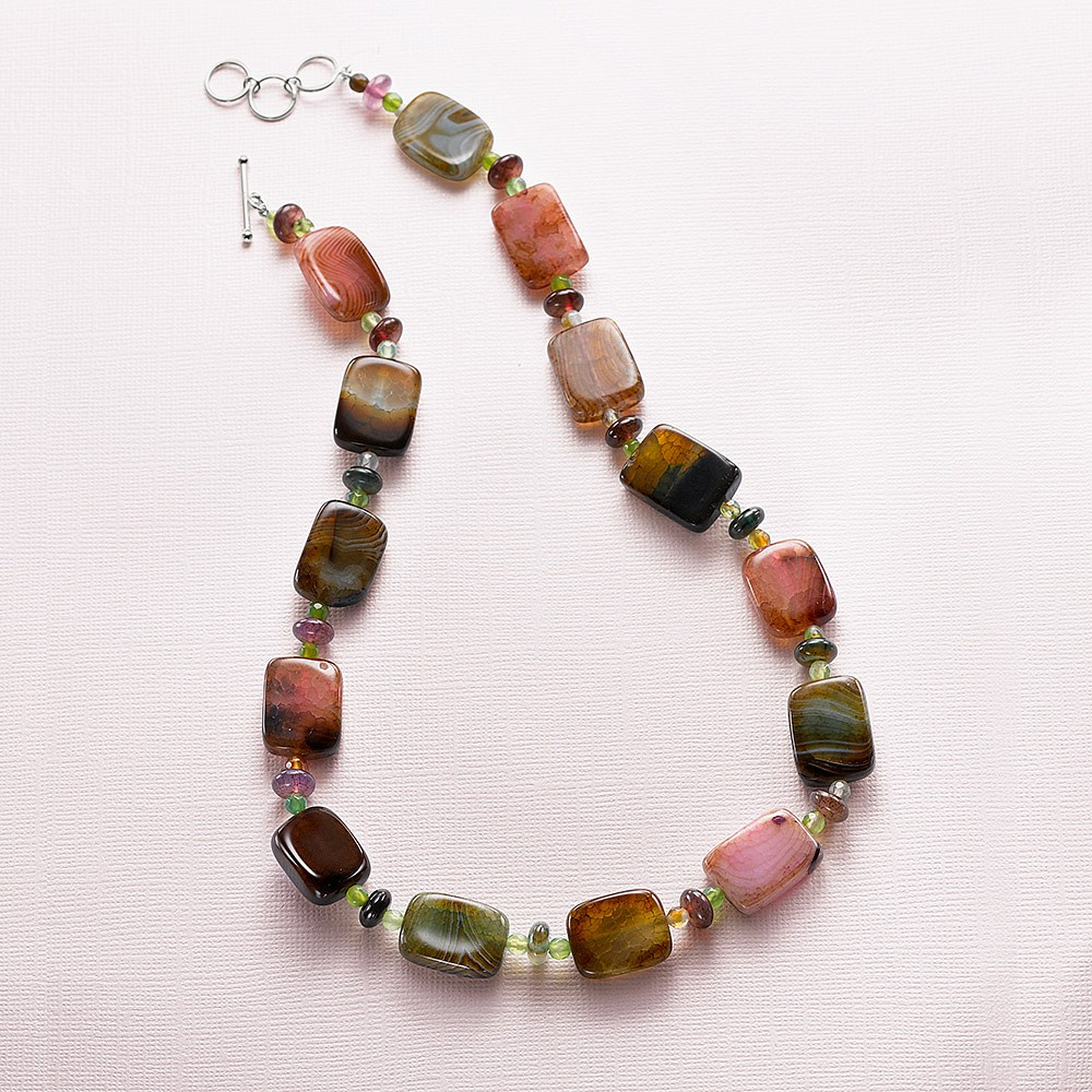 Strawberry Fields Jasper Necklace