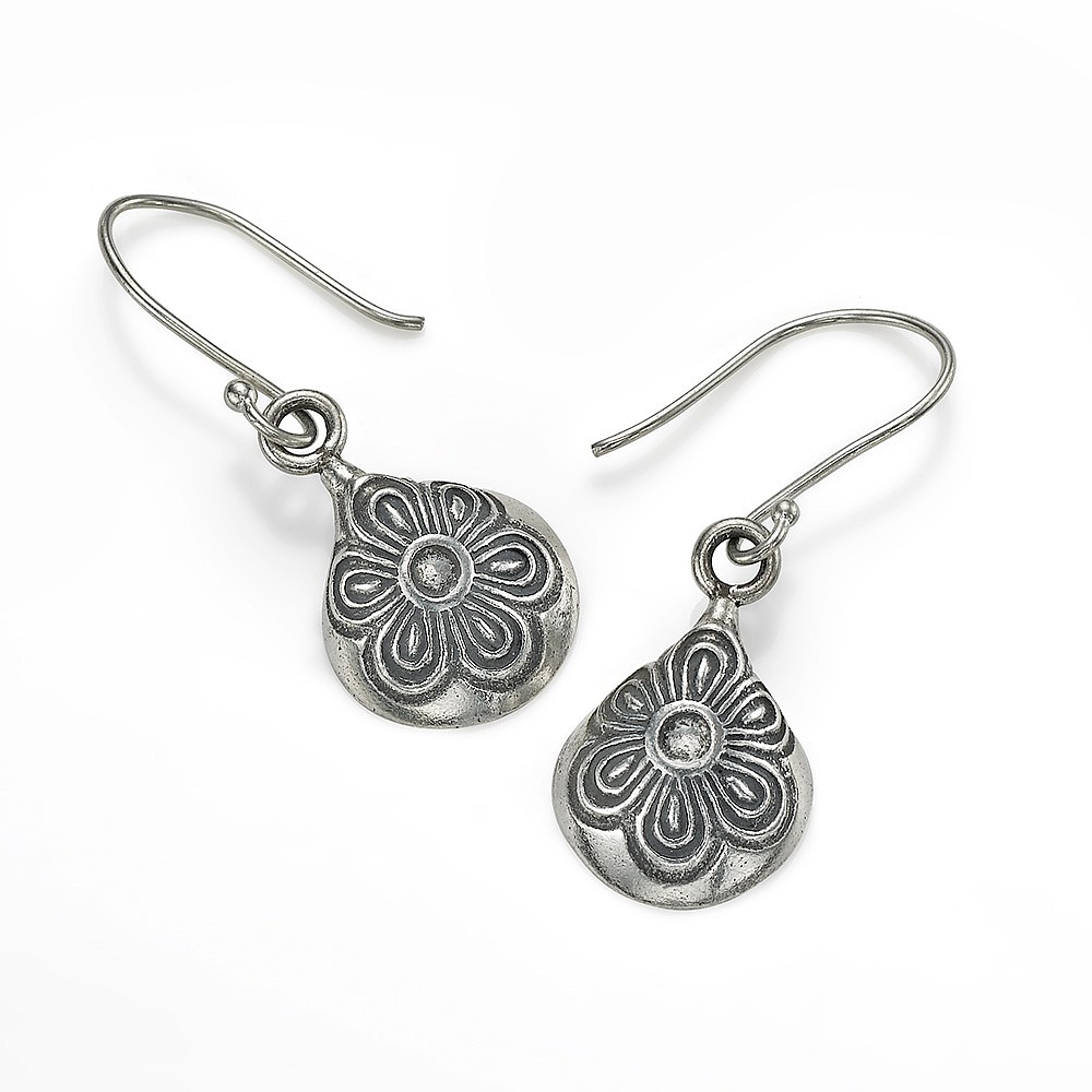 Flower Duet Silver Earrings