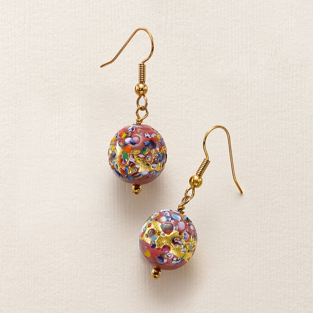 Masquerade Ball Murano Earrings