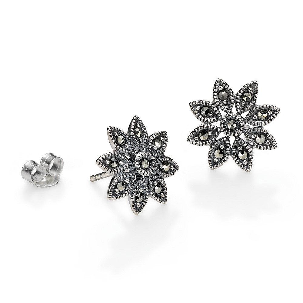 Clara Marcasite Stud Earrings
