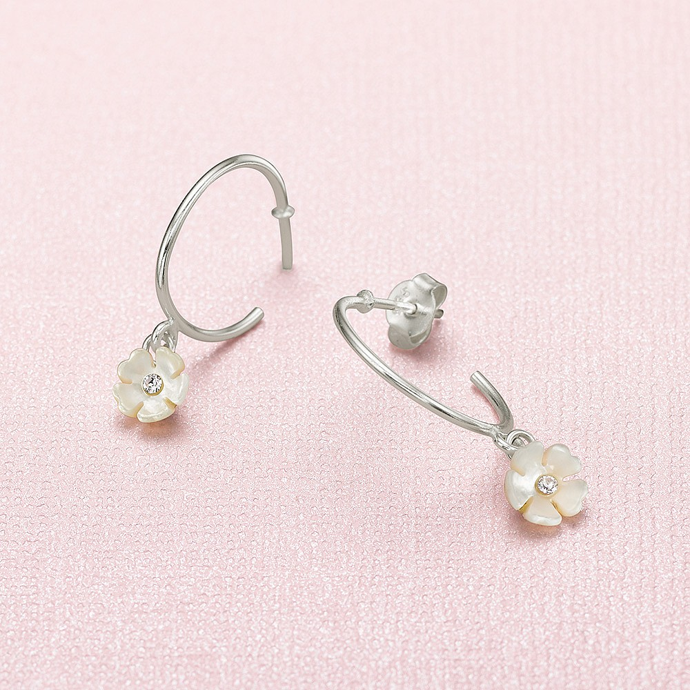 Belle Blossom Hoop Earrings