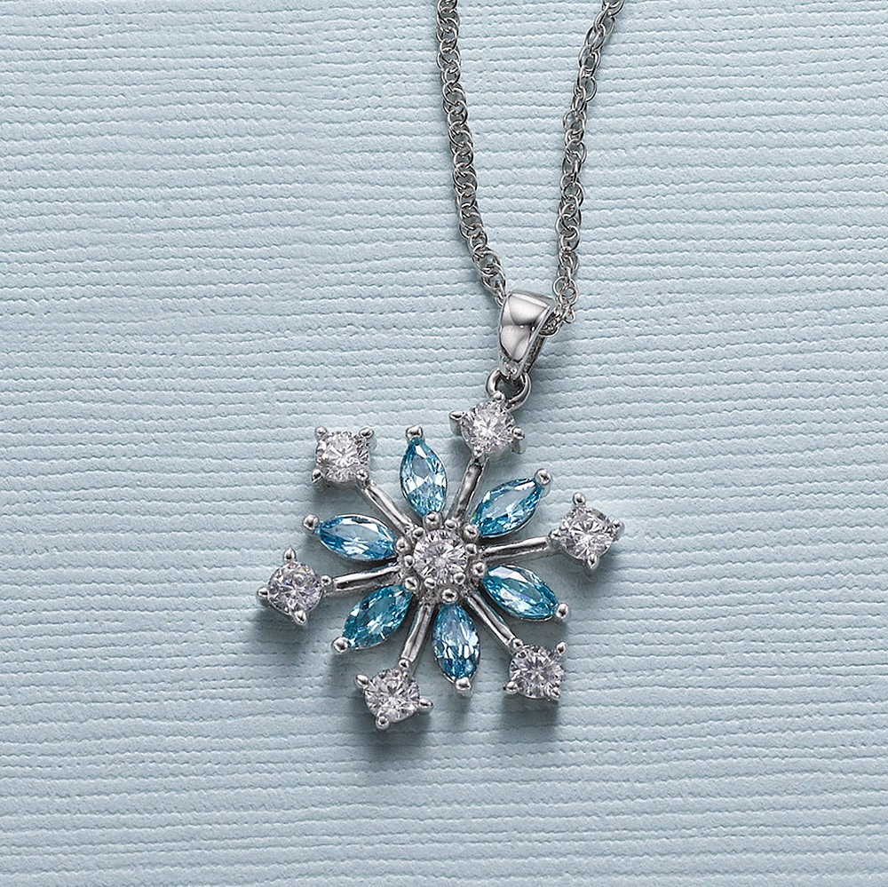 Let it Snow Crystal Pendant