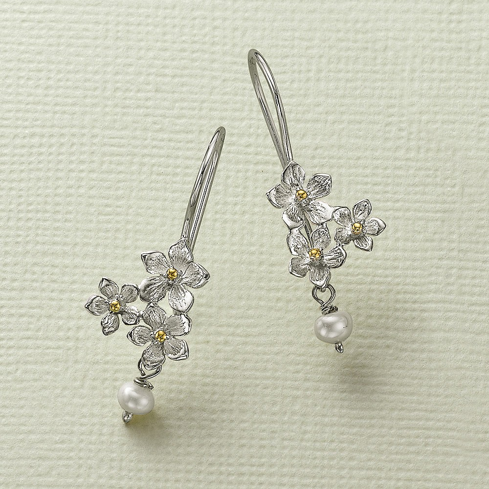 Petite Posy Silver Earrings