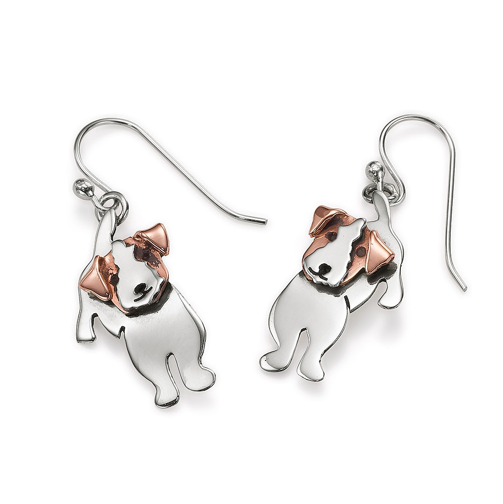 Two's Company Jack Russell Earrings
