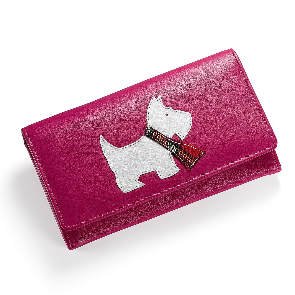 Tartan Terrier Leather Purse