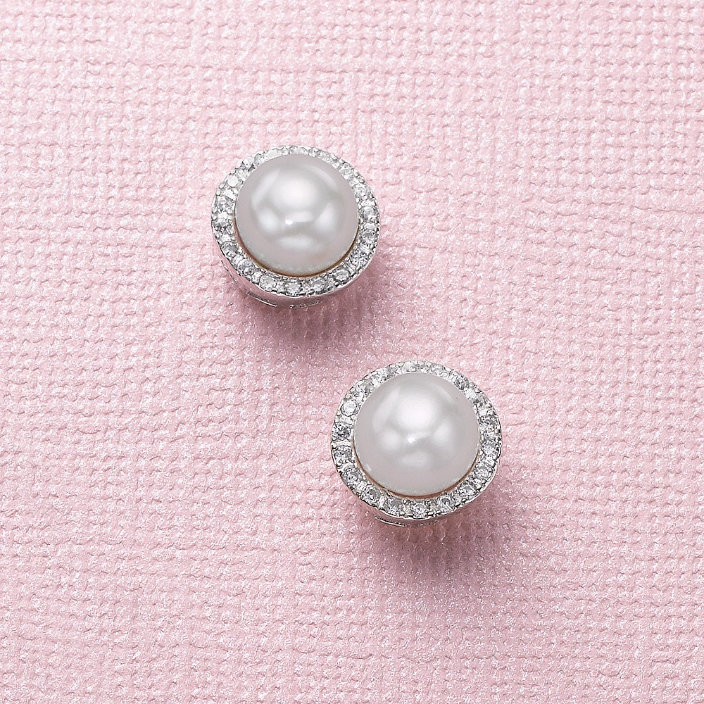 Lit from Within Pearl Stud Earrings