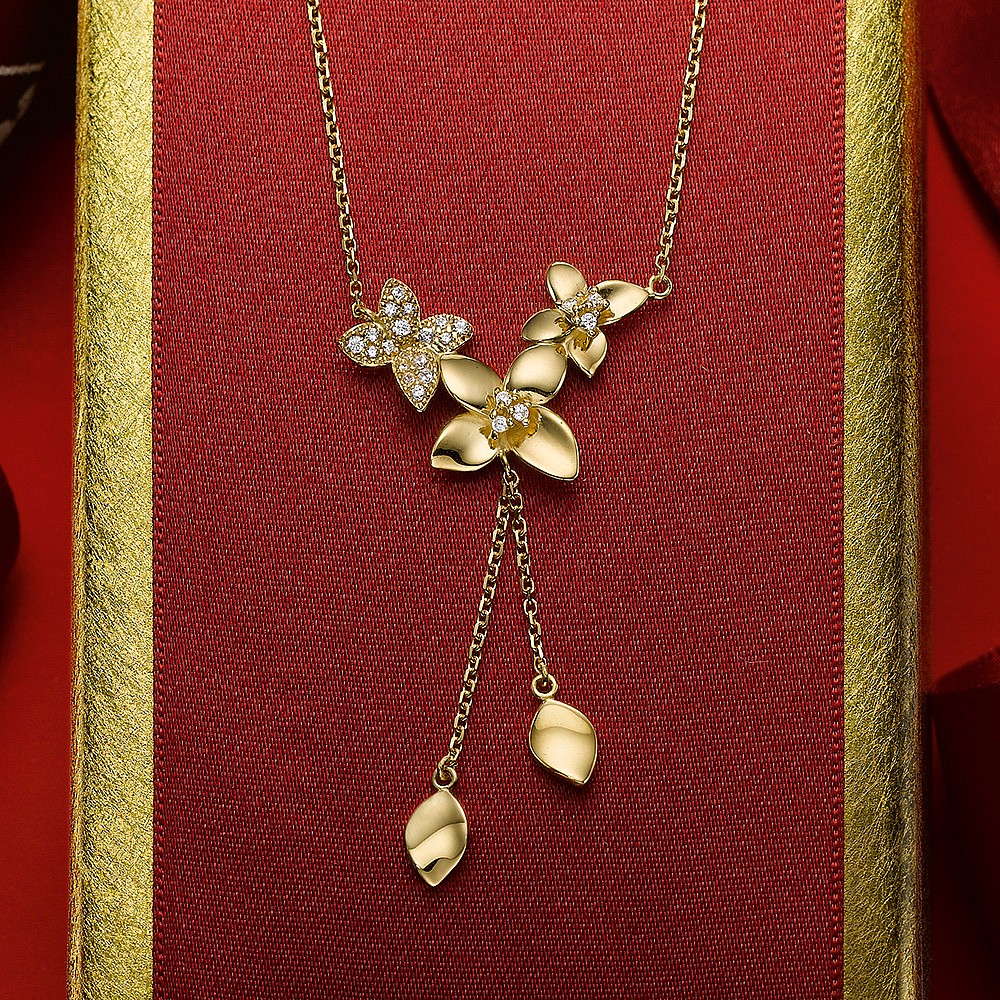 Darling Buds Gold Necklace