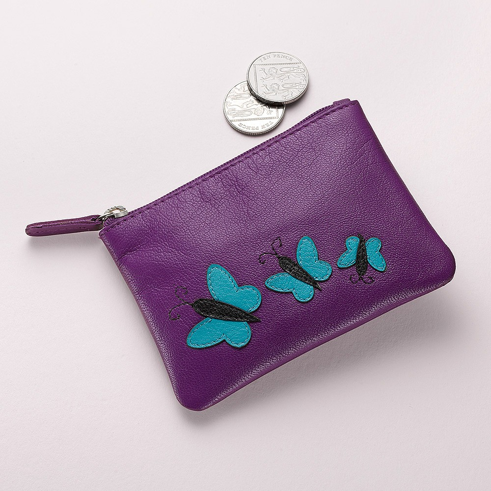 Flying High Leather Coin Purse
