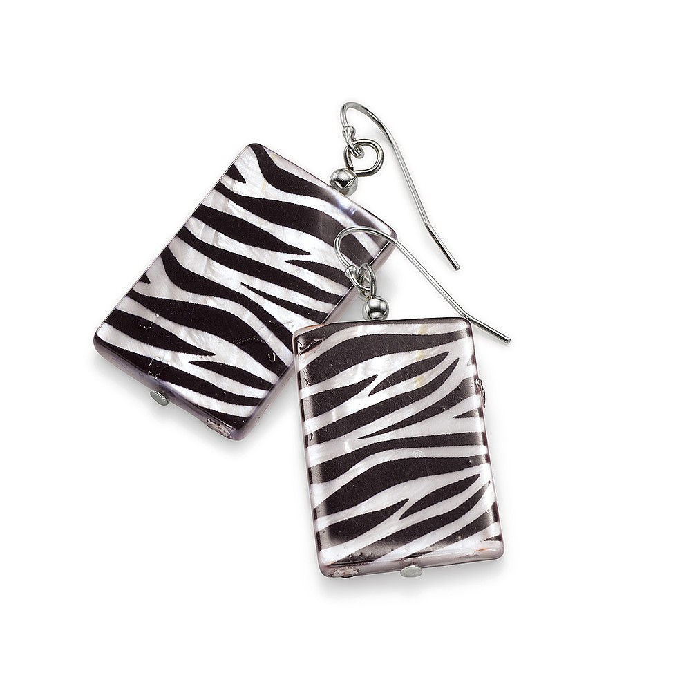 Seeing Stripes Shell Earrings