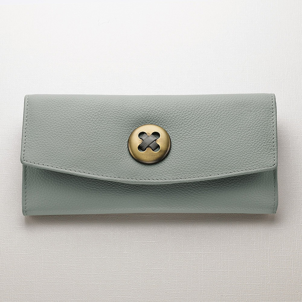 Button-Up Leather Purse