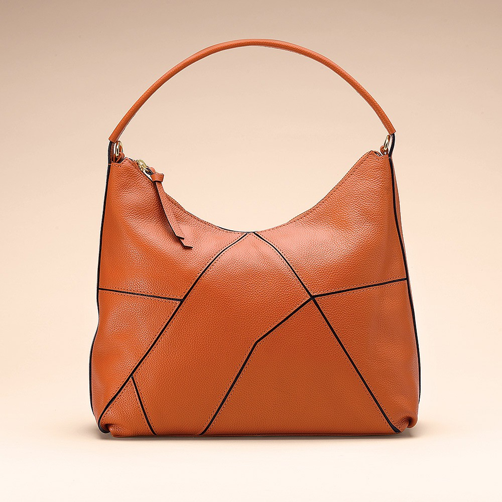 Mandarin Puzzle Me This Leather Bag