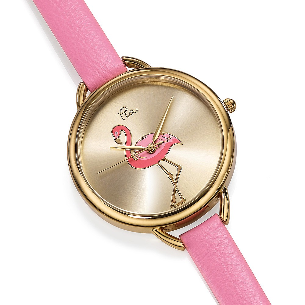 Footloose Flamingo Leather Watch