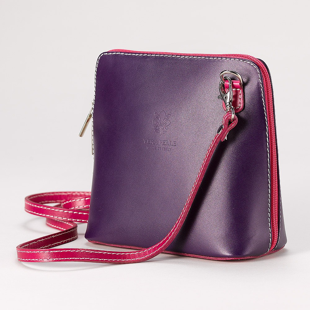 Mulberry Mix Leather Cross-Body Bag
