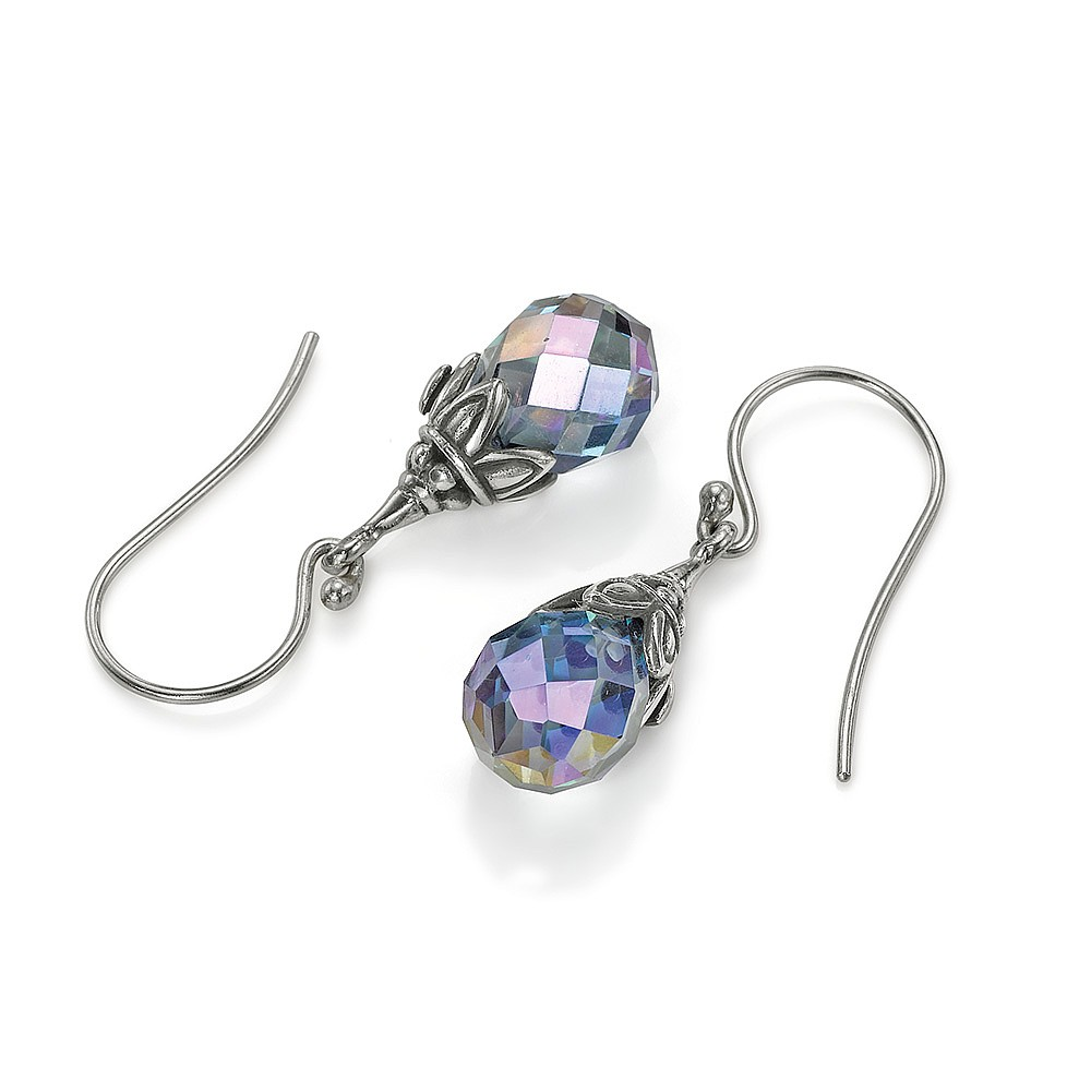 Captured Prism Mystic Quartz Earrings