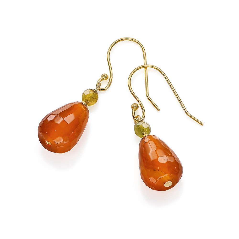 Mandolin Rain Agate Earrings