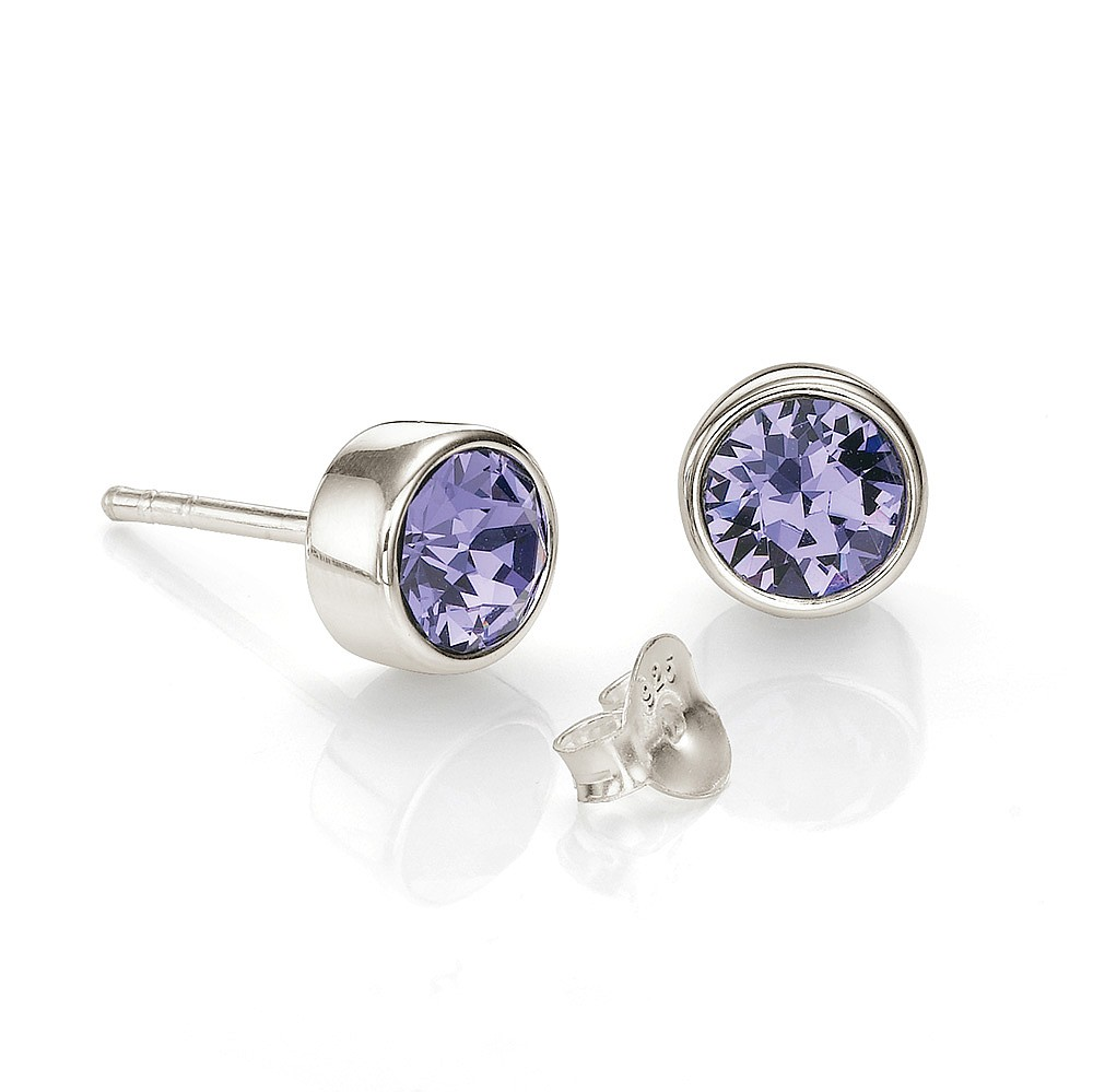 Violet Skies Swarovski® Stud Earrings