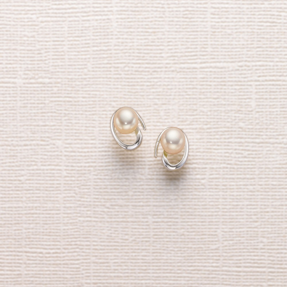 Pearl Swirl Stud Earrings