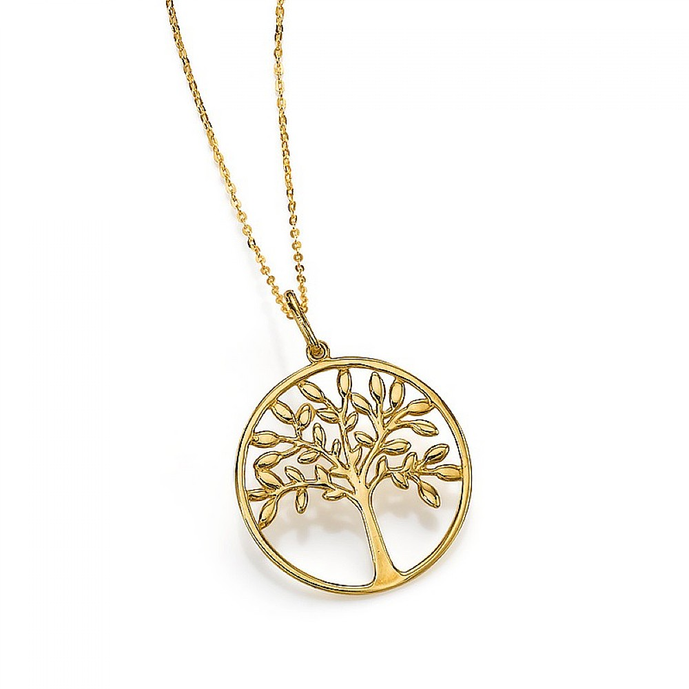 Buy gold tree of life pendant from pia jewellery brand gold tree of life pendant mozeypictures Image collections